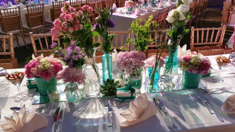 花和庭院 免版税库存照片
