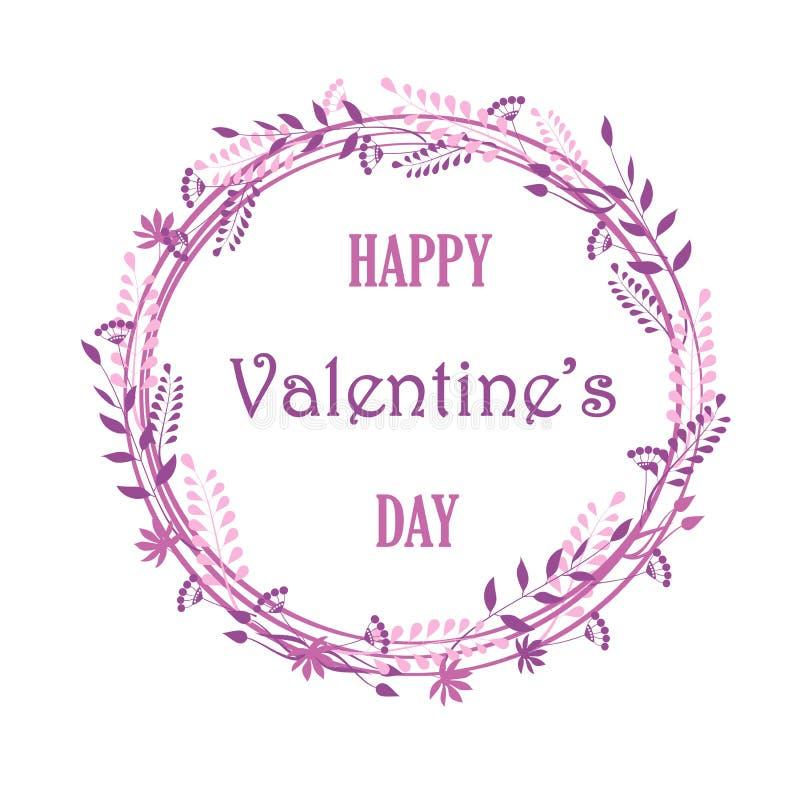 花和植物,可爱的卡片,婚姻的邀请, Valentin天,生日,母亲` s天框架  库存例证