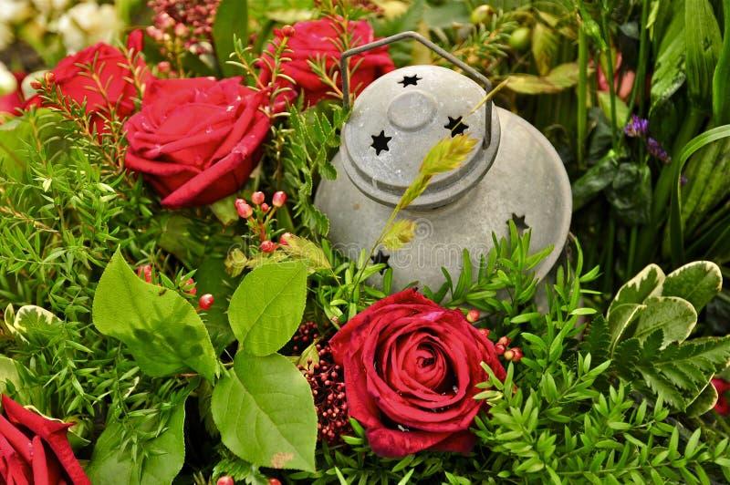 花和灯笼 免版税库存图片