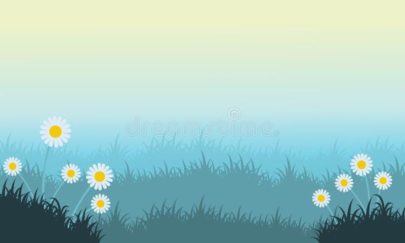 花和草春天风景 皇族释放例证