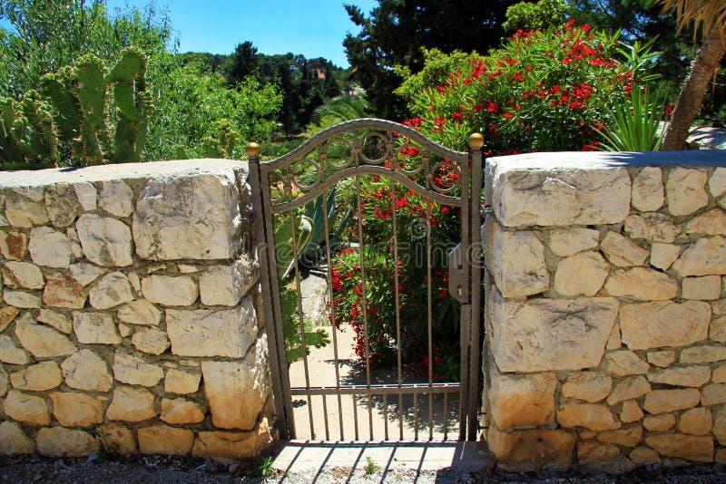 花园大门 库存图片