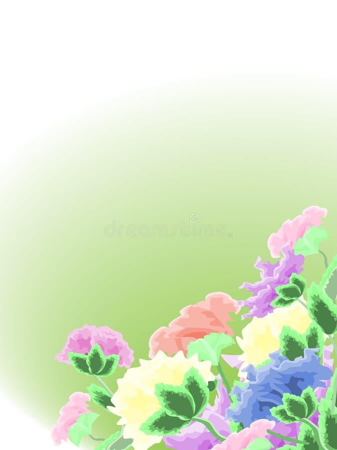 花在背景中 库存图片
