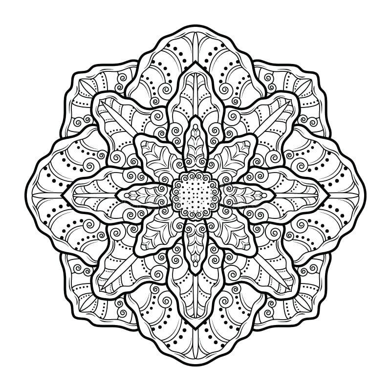 花坛场葡萄酒装饰元素 向量例证