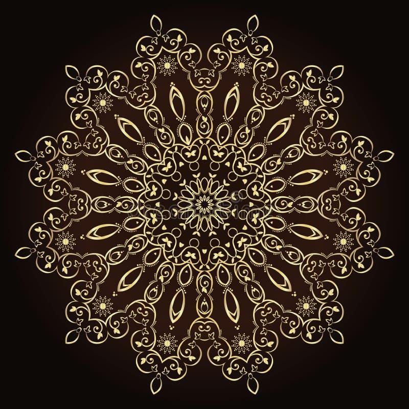 花坛场 装饰要素葡萄酒 仿照回教,阿拉伯语,印地安人,土耳其语,巴基斯坦样式的东方样式 向量例证