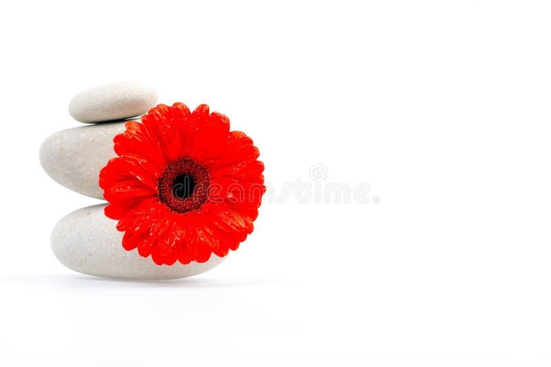 花堆红色石头 图库摄影