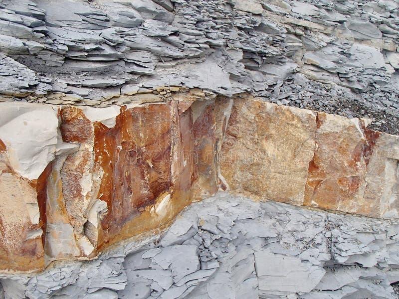 花岗岩岩石 石纹理特写镜头背景 概略的石纹理背景 免版税图库摄影