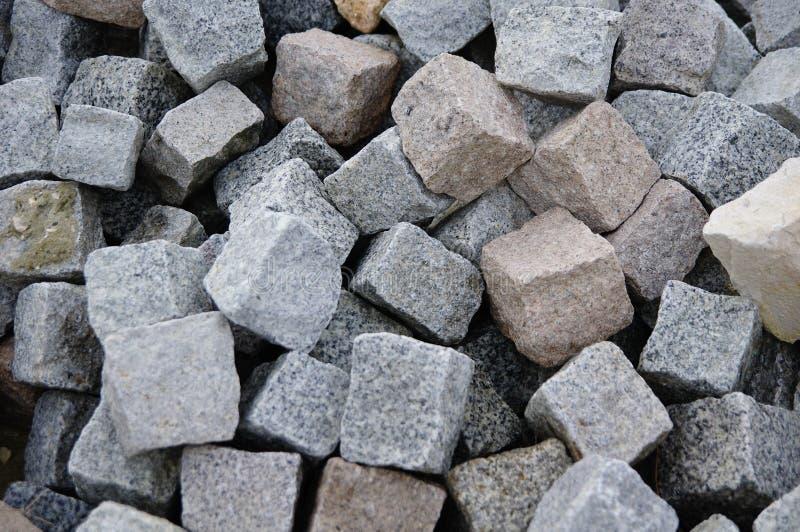 花岗岩摊铺机 库存图片