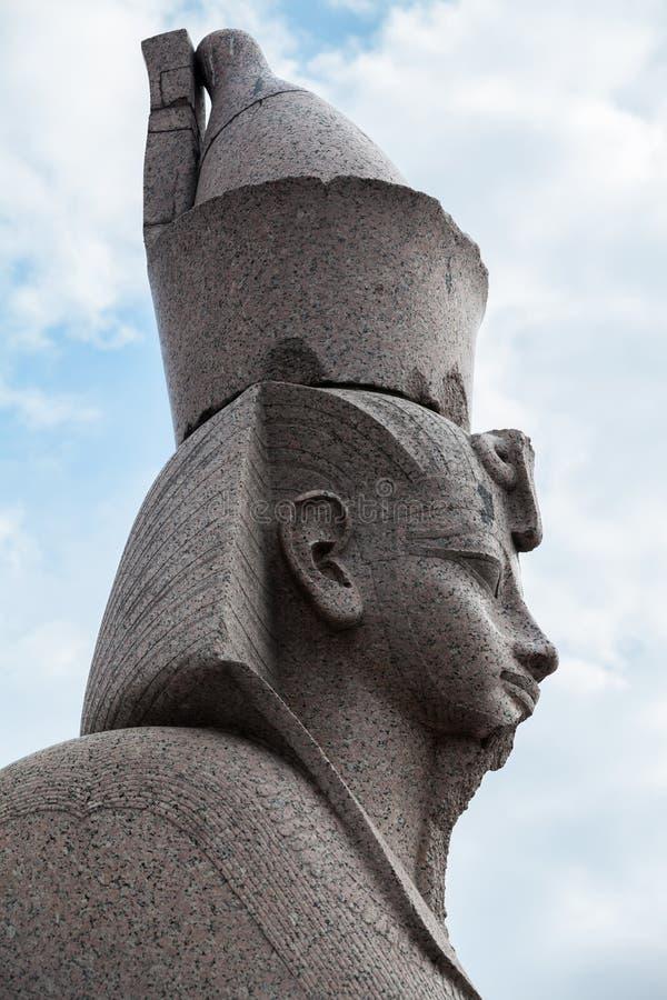 花岗岩狮身人面象外形 2古老纪念碑 图库摄影