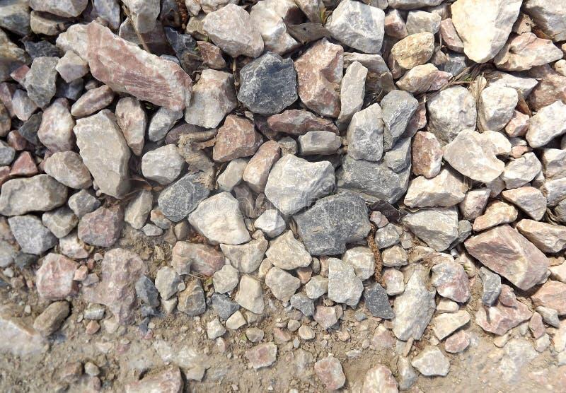 花岗岩石头路  库存图片
