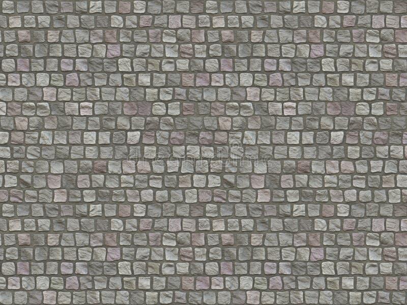 花岗岩铺有鹅卵石的路面背景。路 向量例证