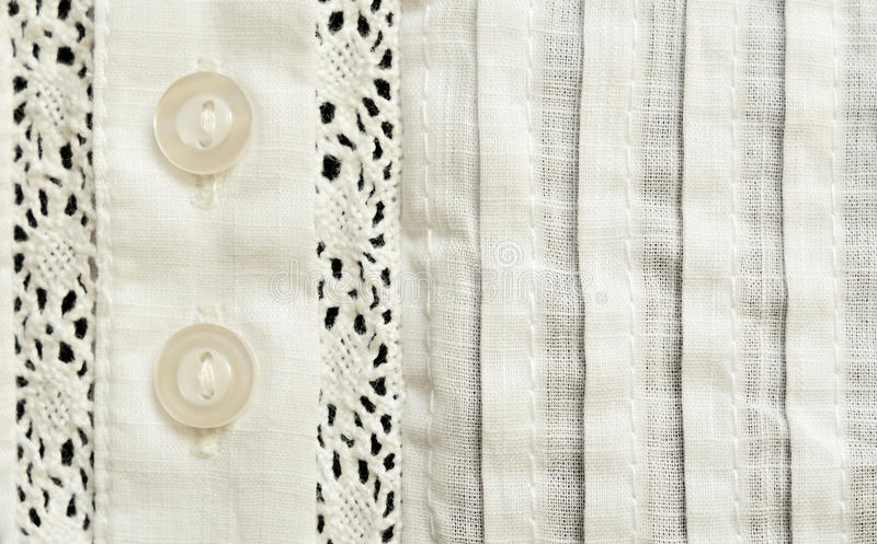细麻花布女衬衫的元素 库存图片