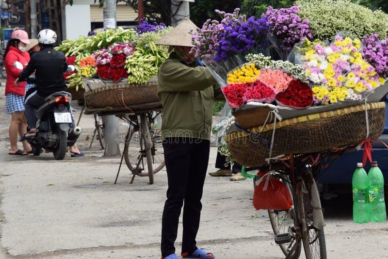 花店在河内 库存照片