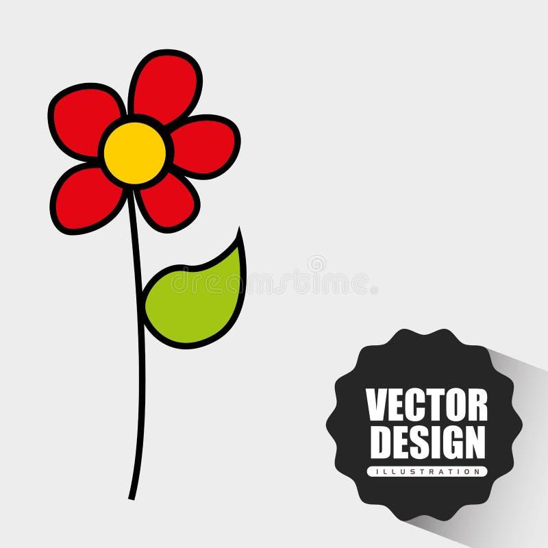 花得出的设计 向量例证