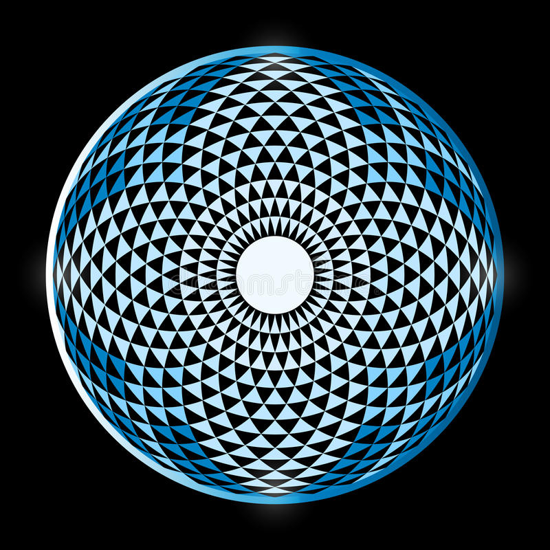 花托扬特拉河,催眠眼睛神圣的几何 库存例证