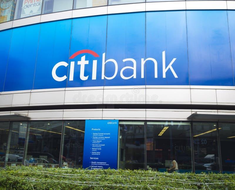 花旗银行签到曼谷,泰国 库存照片