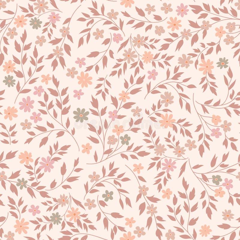 花无缝的模式 花卉庭院背景 向量例证