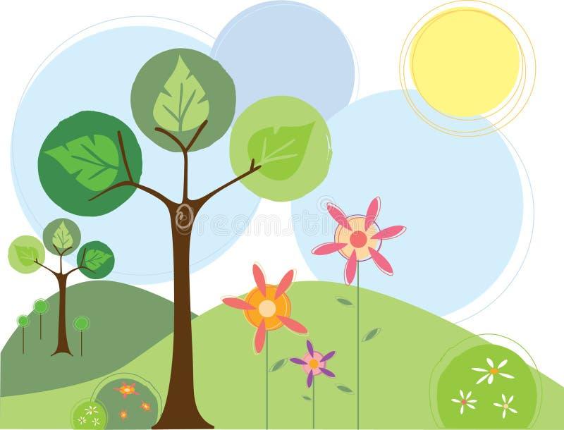 花春天结构树 向量例证