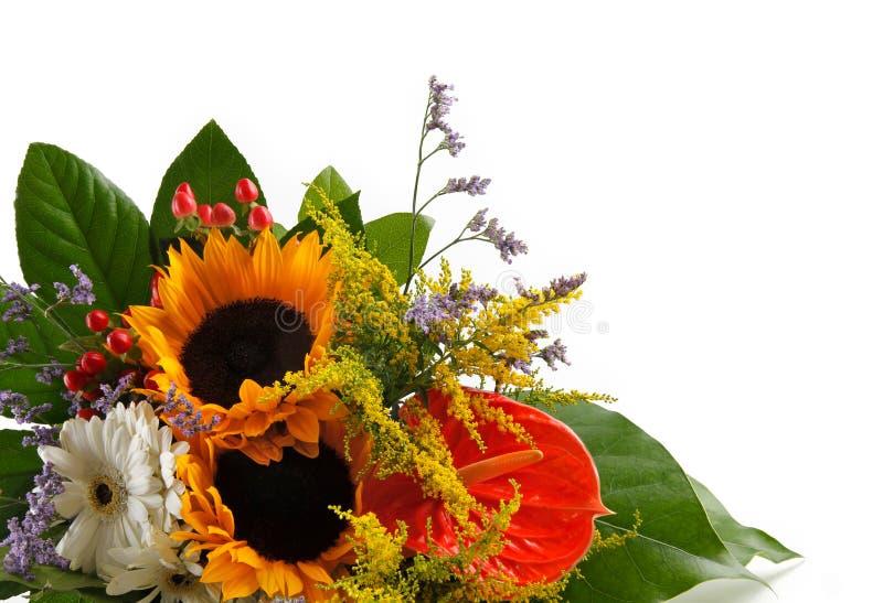 花束向日葵 免版税图库摄影