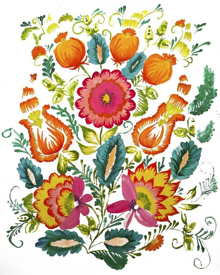 花束和鸦片果子 免版税库存照片