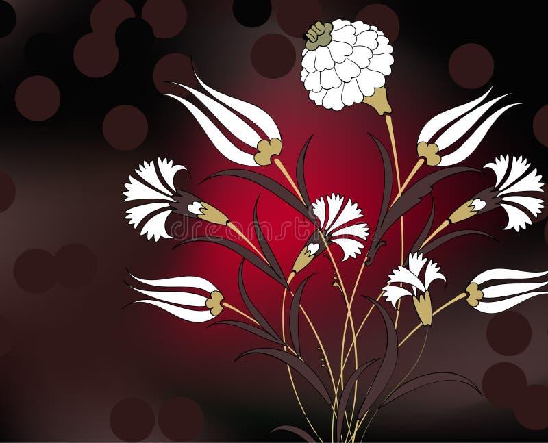 花束康乃馨设计例证 向量例证