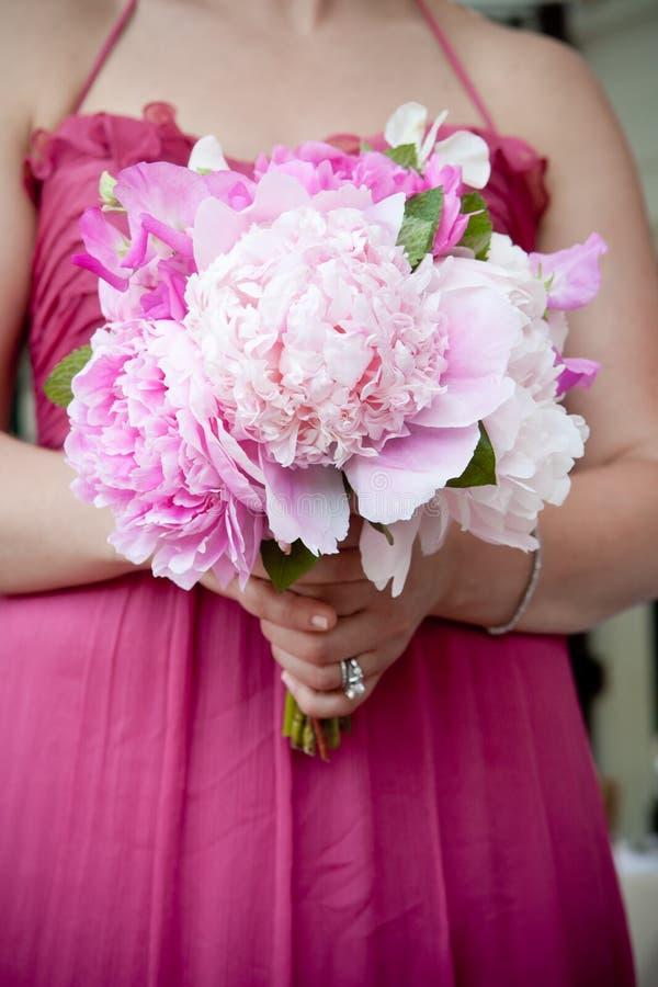 花束开花粉红色 库存图片