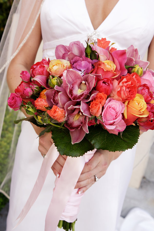 花束新娘muliticolored s 库存图片