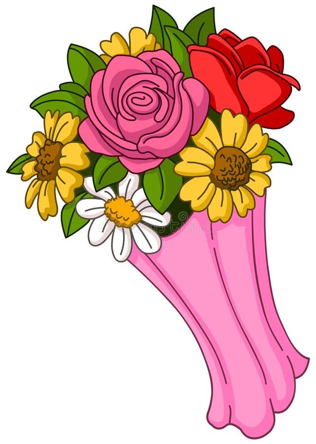 花束明亮的花照片向量 库存例证