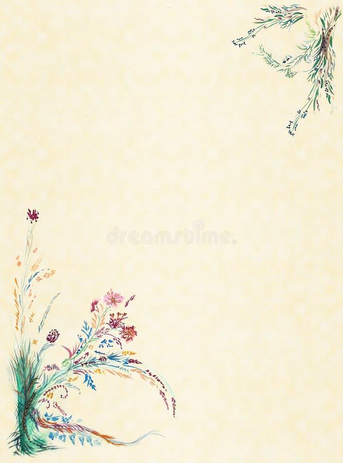 花束水彩 向量例证