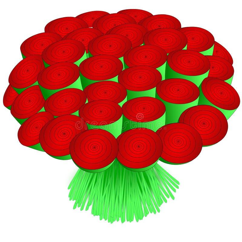 花束玫瑰 皇族释放例证