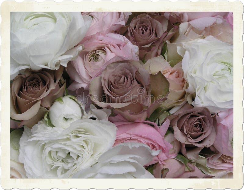 花束葡萄酒婚礼 图库摄影