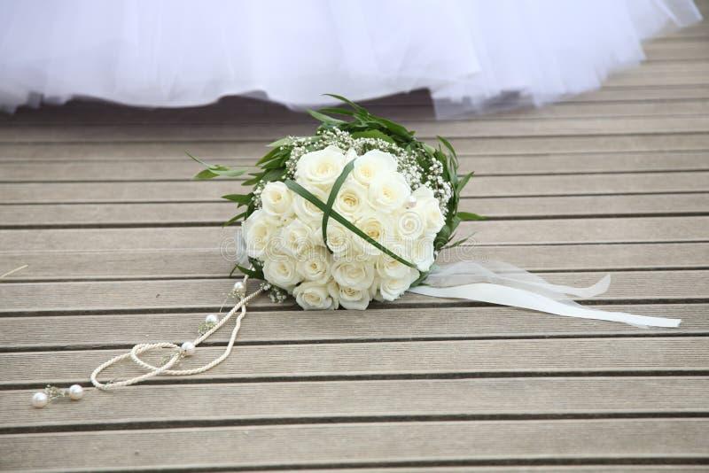 3花束重点前景婚礼 库存图片