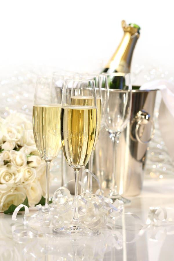 花束香槟玫瑰 图库摄影