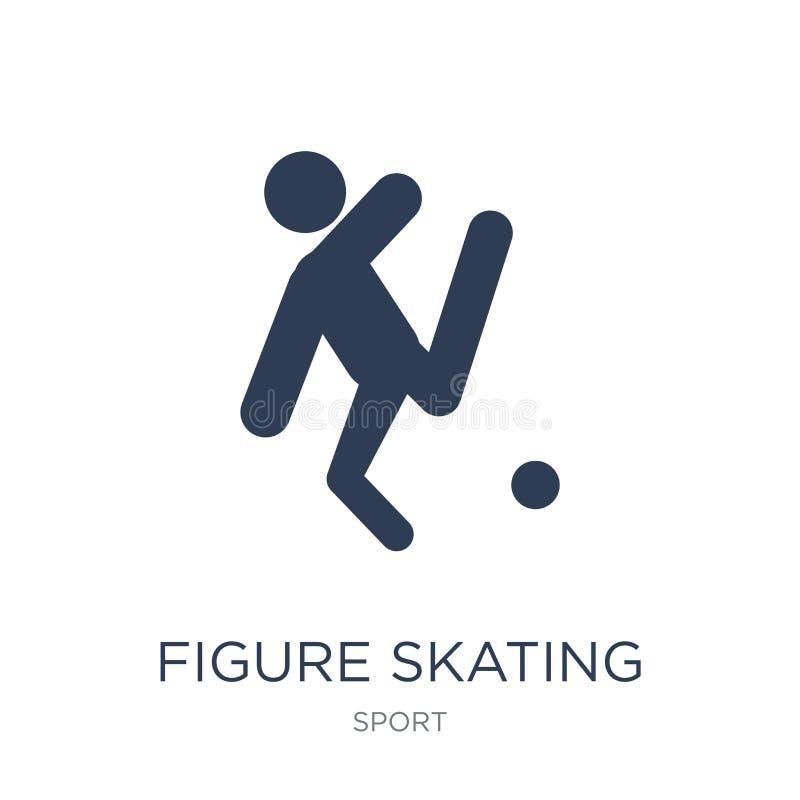 花样滑冰象 时髦平的传染媒介花样滑冰象在w 库存例证