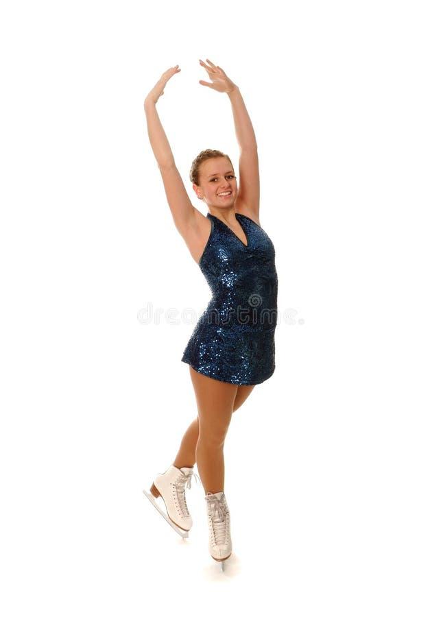 花样滑冰运动员微笑 免版税图库摄影