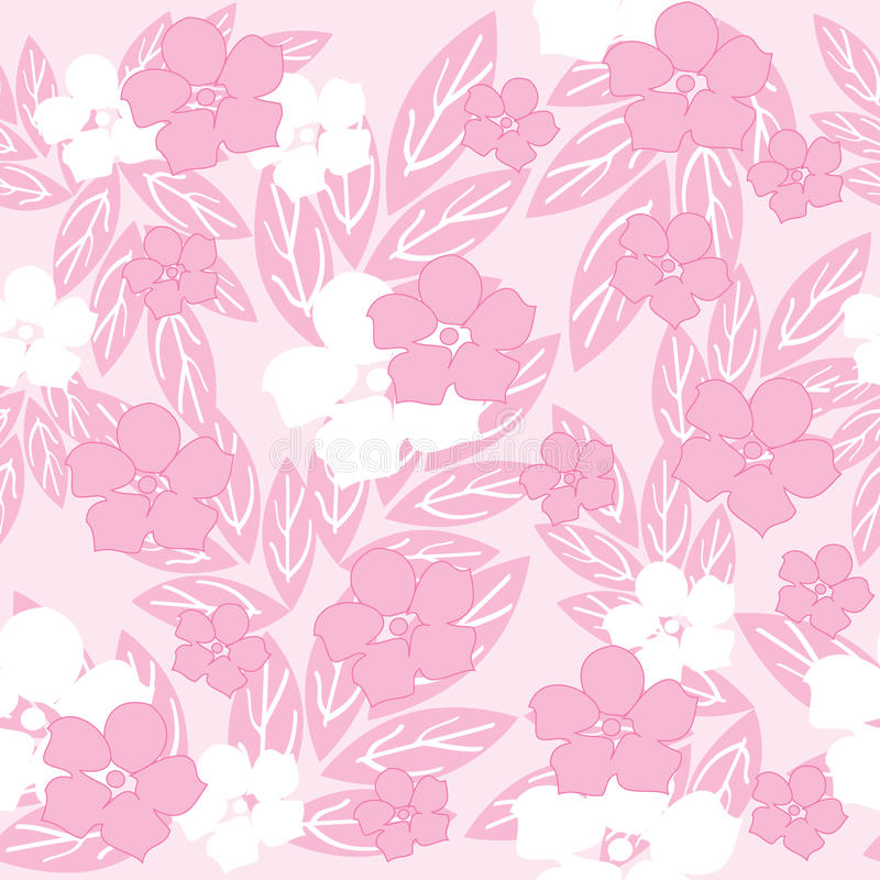 花桃红色无缝 向量例证
