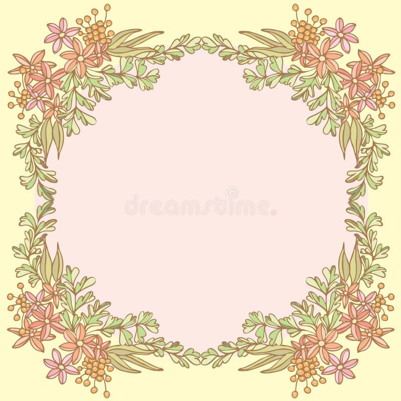 Download 花框架在空的空间的 向量例证. 插画 包括有 庭院, 背包, 墙纸, 装饰, 设计, 逗人喜爱, 空间, 例证 - 30330990