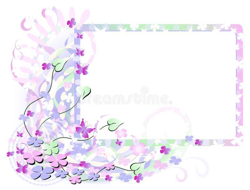 花框架春天 向量例证