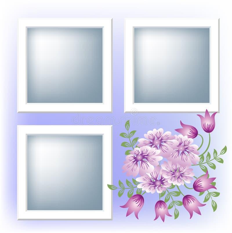 花框架照片 向量例证
