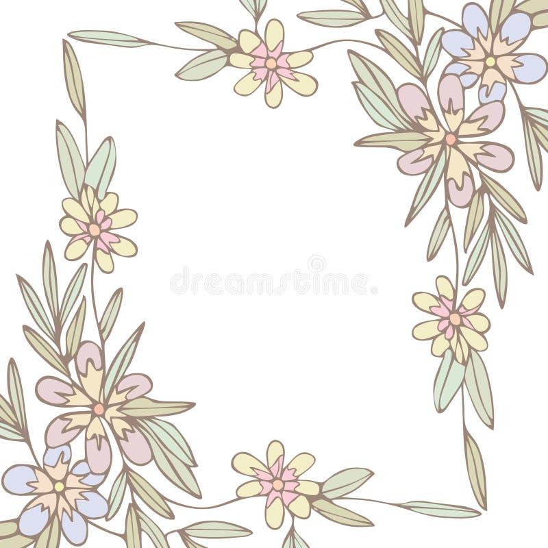 Download 花框架背景 向量例证. 插画 包括有 空间, 叶子, 华伦泰, beautifuler, 例证, 装饰, 花卉 - 30330081