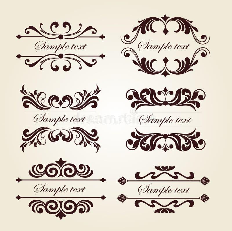 花框架装饰-与题字的花卉标签 免版税库存图片