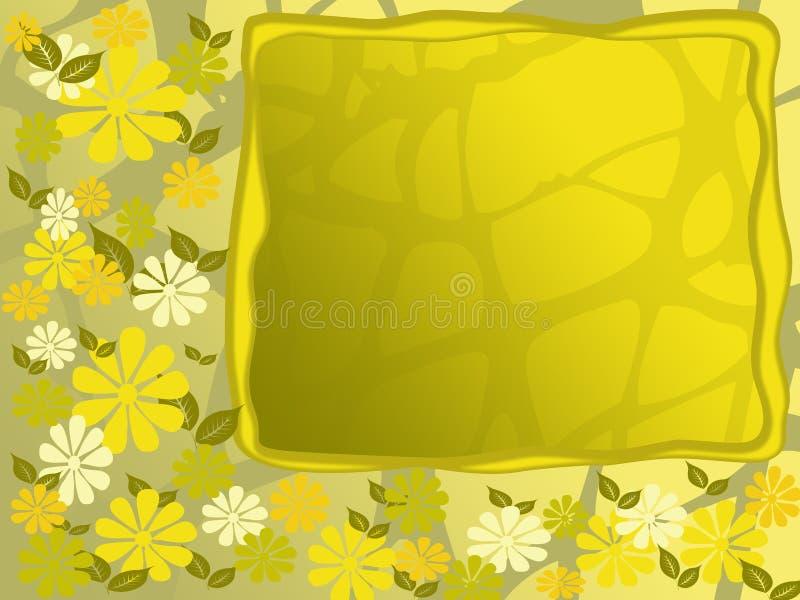 花框架黄色 库存例证