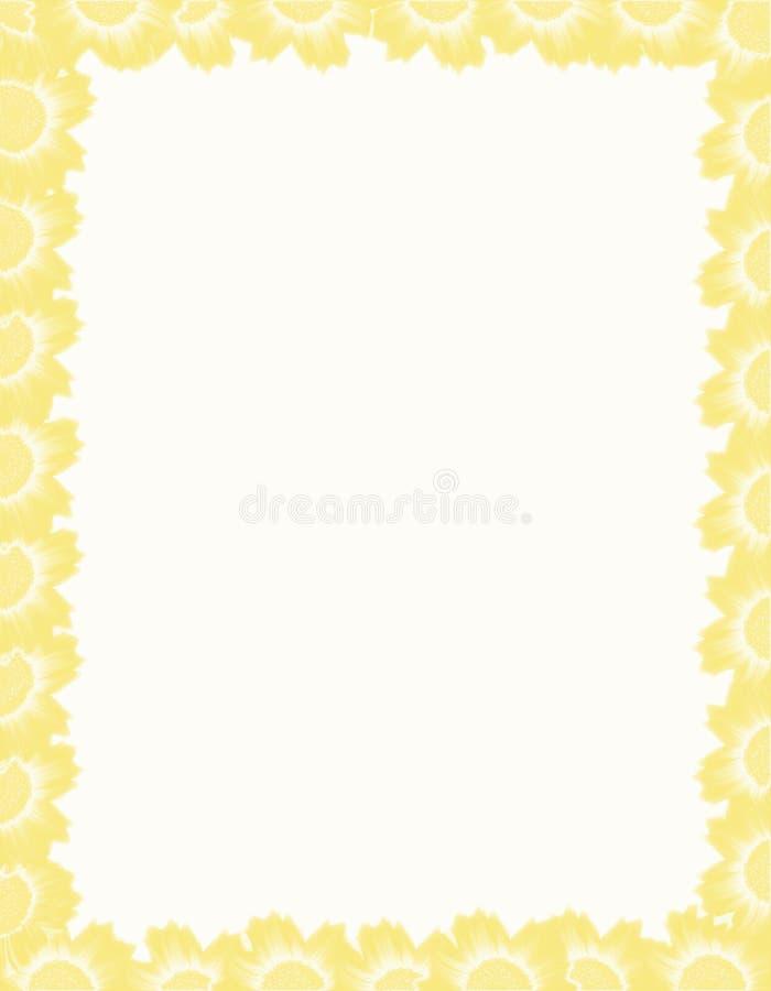 花框架黄色 库存照片