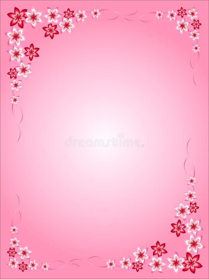 花框架,桃红色,红色,桃红色背景,五颜六色,不同的花,华伦泰的,卡片有趣的想法,任何holida的 向量例证