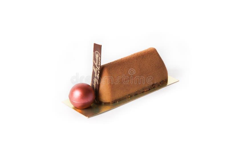 花梢巧克力点心蛋糕 库存图片