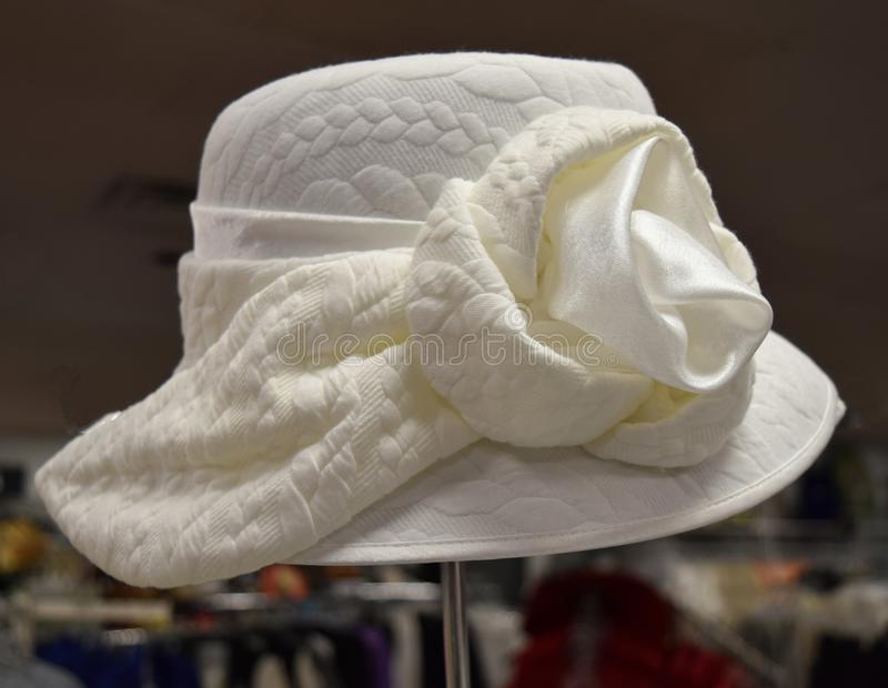 花梢帽子为德比天 免版税库存图片