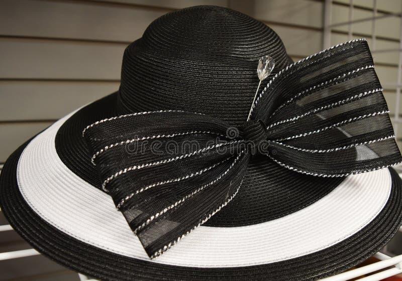 花梢帽子为德比天 免版税库存照片