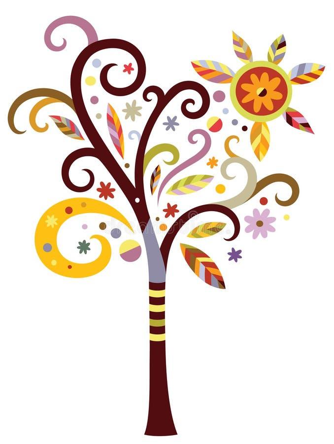 花梢结构树 库存例证