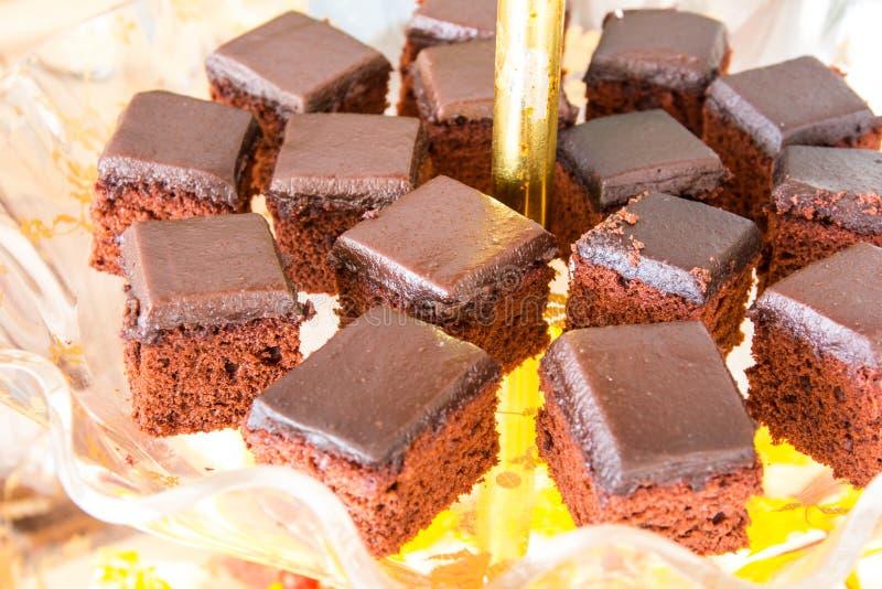 花梢蛋糕巧克力 免版税库存照片