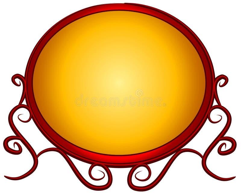 花梢金子徽标红色网页 皇族释放例证