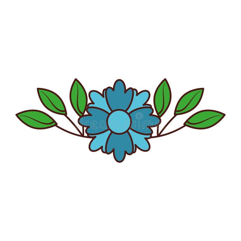 花植物装饰植物的植物群离开装饰 皇族释放例证